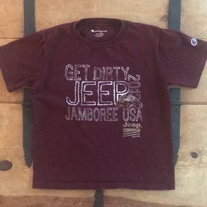 Champion Boys Deep Maroon Color Graphic Tee Shirt